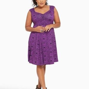 TORRID DISNEY Purple Ursula Dress Size M/L